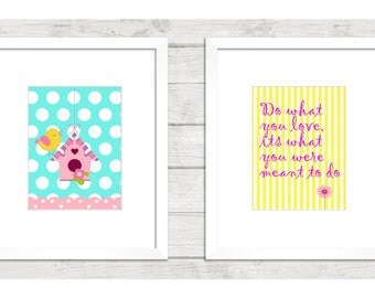 Nursery wall art, Nursery wall decor, Girls nursery art, 8x10 nursery wall art, Baby Nursery art, Wall art, Wall decor, Nursery, Baby's room