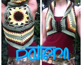 PATTERN: Sunflower Mandala Crochet Vest