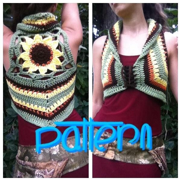 Free Crochet Pattern For Mandala Vest : PATTERN: Sunflower Mandala Crochet Vest
