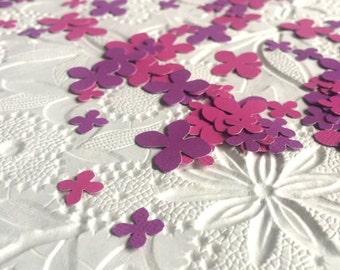 Pink and Purple Hydrangea Flower Petal Confetti - Pink Hydrangea Wedding - Flower Confetti - Floral Bridal Shower Confetti - 150 Pieces