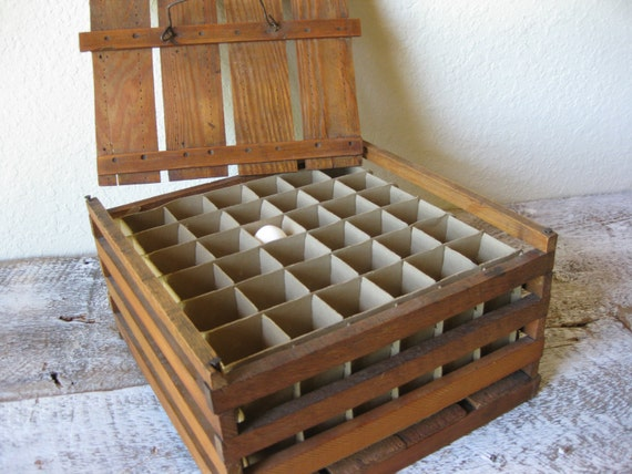 Antique Wooden Egg Crate Vintage Egg Box Rustic Farmhouse