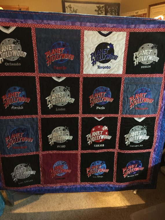 T Shirt Quilt Custom Made Memory Quilt Made By