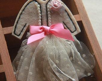 2pcs Applique Badge Lace Dress Bowknot Clothing Embellishing