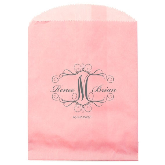 wedding cake bags for guests personalized wedding cake bags treats cookies 8566