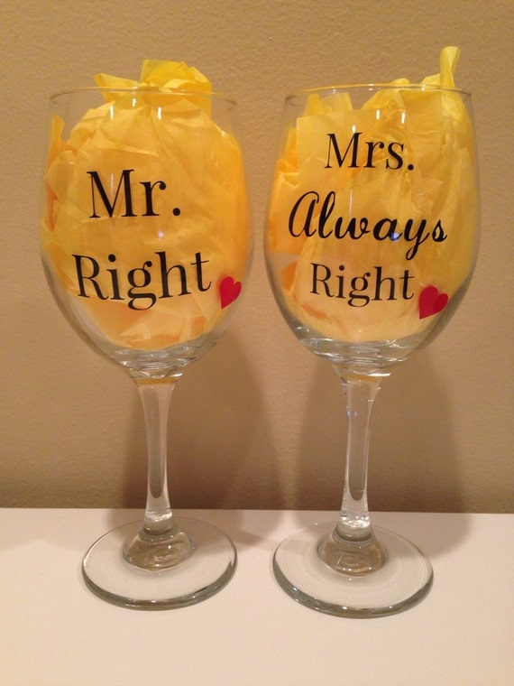 Mrs Always Right Collection Review: Mr. Right And Mrs. Always Right Set Of 2 Wine By