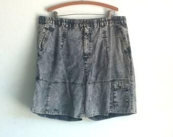 Vintage, 70's, Men's Acid Washed Shorts