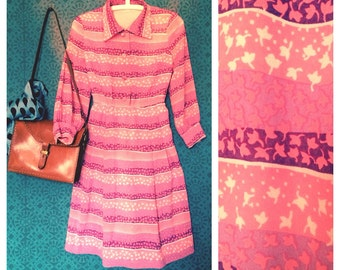 Pink 1960's dress S/M