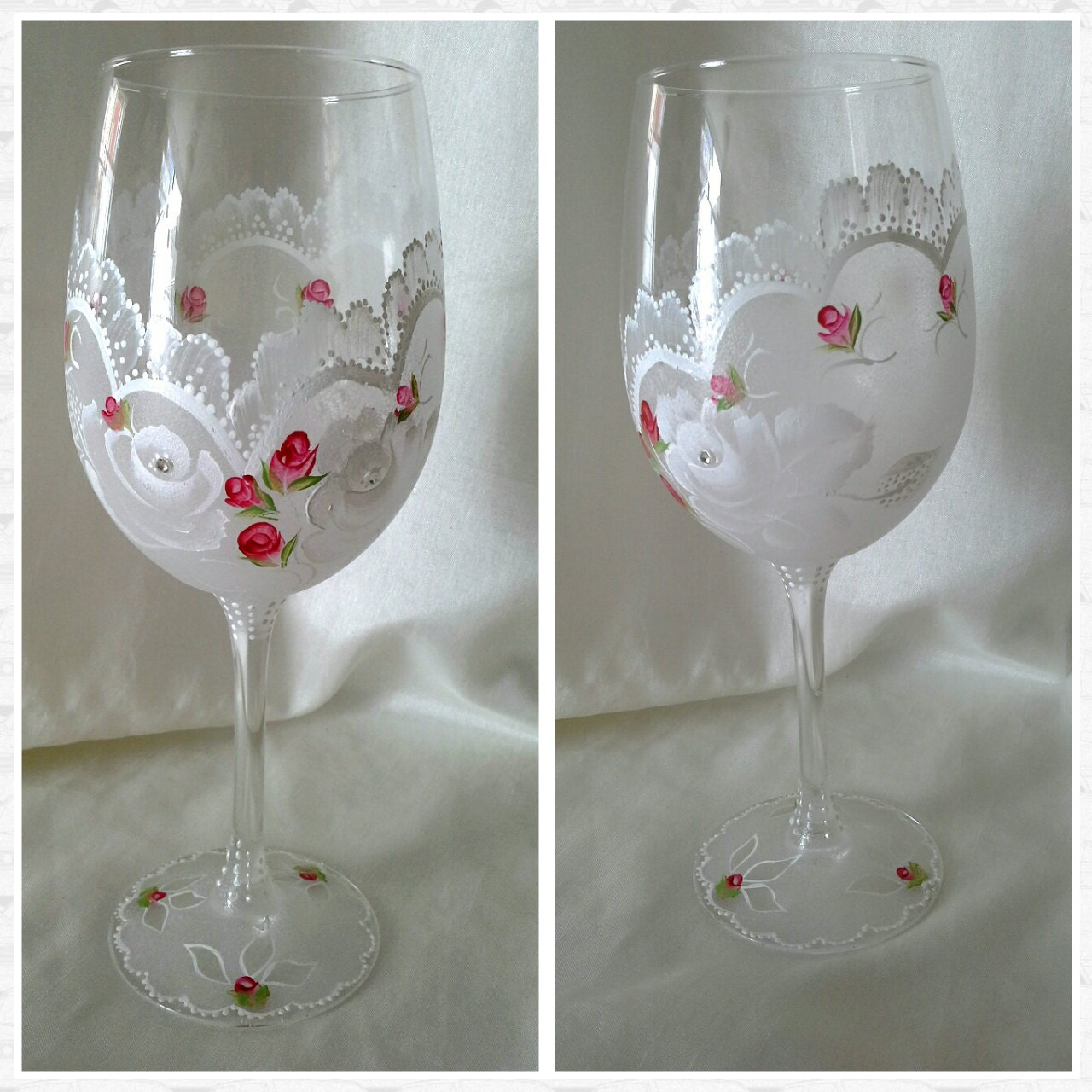 Hand painted wine glass hand painted wine glasses hand by Images of painted wine glasses