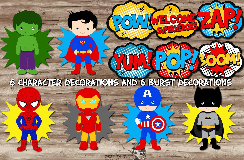 Superhero Printable Decorations | www.imgkid.com - The ...