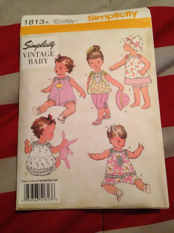 simplicity vintage baby clothes pattern
