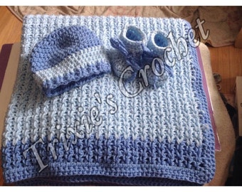 Crochet Baby blanket set