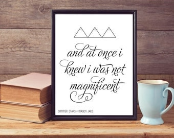 Magnificent Art Illustration Poster/Print with Quote