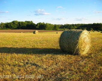 Hay Bail Sunset Print - Landscape Photography