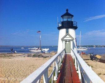 Nantucket Lighthouse on a Summer Day Print - Landscape Photography