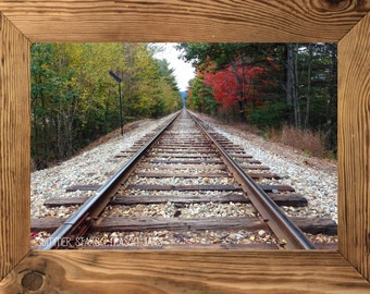 Fall Rail Road Tracks - Landscape Photography