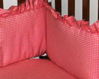 Gingham Crib Bumper