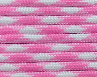 550 Paracord 100ft Barbie Girl Type III Commercial 7 Strand Nylon 100' rope Parachute Cord Free Shipping Survival 550 cord US made 100' hank