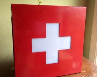 On Hold--Vintage, Ornamental Red Cross Light. Works!