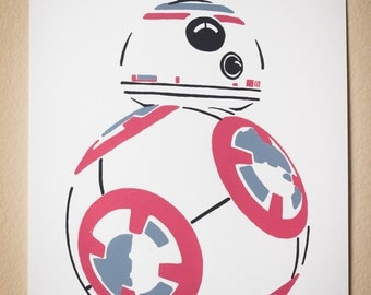 Star Wars inspired BB-8 Droid Screenprint