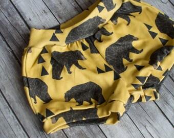 Mustard Boy Shorts in bears