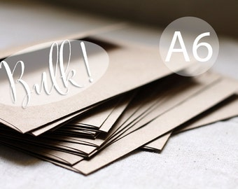 "SALE - BULK! 100 A6 Kraft Envelopes - A6 size - 4x6 kraft brown envelope (true size 4 3/4"" x 6 1/2"") Wedding envelopes - kraft paper bag"
