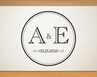 Wedding Monogram - Wedding Logo - Custom Monogram