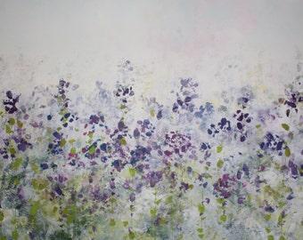 Large Acrylic on Canvas 'purple'