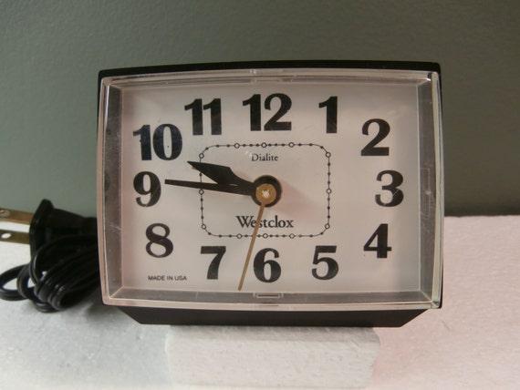 vintage alarm clock bedroom clock black electric alarm