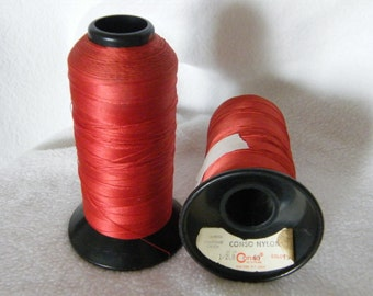 2 Cones of Rust Color Bonded Nylon Thread.  1/2 lb Approx 3000 yards.  Tex 70.  Size 69 by CONSO for Indoor use.