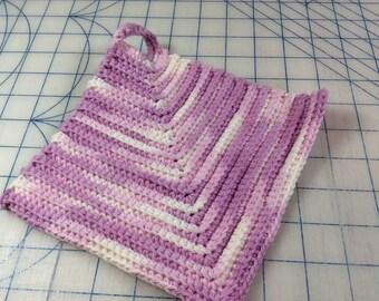 Handmade crocheted potholder
