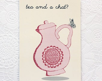 Postcard: Tea and a chat?