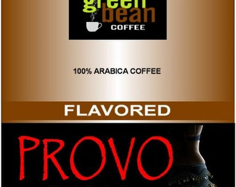 Whole bean  roasted coffee,  PROVO Simply Seductive Flavored Coffee, 12oz (350g)