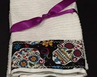 Sugar Skull  Hand Towels
