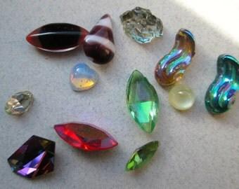 Destash of Vintage Glass Cabochons