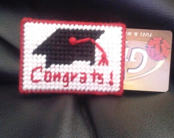Graduation Gift Card Holder- Red