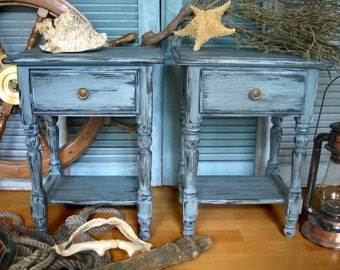 "Communication with control tables dressers ""Bodega Bay"" Beach House shabby"