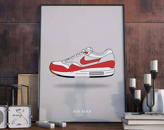 A3 Poster. Nike Air Max Shoes poster.