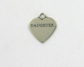 Sterling Silver Engraveable Daughter Charm - hlw39