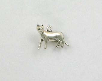 Sterling Silver 3-D 20mm Standing Cat Charm