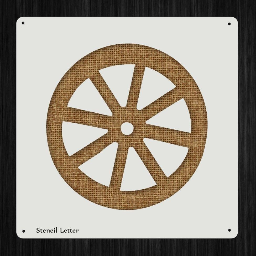 Wagon Wheel Style 16 DIY Plastic Stencil Acrylic Mylar