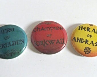 Dragon Age Button Set