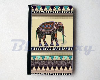 Elephant Aztec Geometric Passport Cover - Passport Holder, Passport Wallet