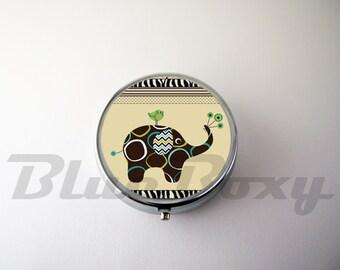 Cute Elephant Pill Case, Pill Box, Pill Holder