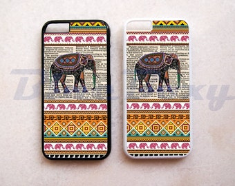 Elephant on Dictionary Aztec - iPhone 8, 8 Plus, iPhone 7, 7 Plus, iPhone 6/6s, iPhone 6/6s Plus, iPhone 5/5s, iPhone 4/4s, Phone Cover