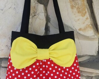 """Minnie Mouse's bag. My """"ho-bow"""" tote bag with a little Disney flare."""