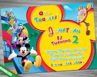 Mickey Mouse Club House Invitation, Mickey Invitation, Mickey Invitation, Club House Invitation, Mickey Club House Invitation