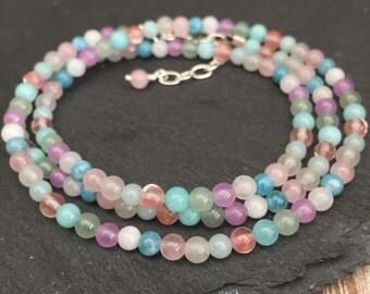 Wrap Bracelet, Pastel Bracelet, Mixed Pastel Bracelet, Gemstone Wrap Bracelet, pastel wedding