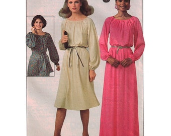Simplicity Sewing Pattern 8265 Misses pullover Dress in two lengths  Size:  10-12  Uncut