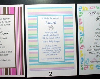 50 Baby Baptism Christening Invitations Personalized and Customized for You
