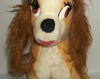 Vintage Walt Disney Lady and The Tramp Dog / Walt Disney Characters Stuffed Animal / California Stuffed Toys